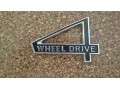 Tail gate 4WD emblem black