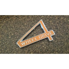 Tail gate 4WD emblem